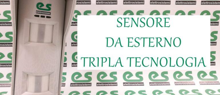 Sensore volumetrico da esterno tripla tecnologia 15m Antimascheramento